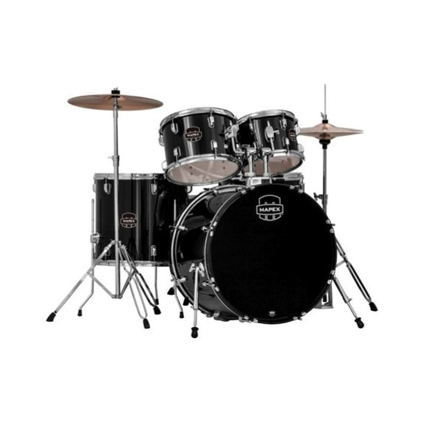 Mapex PDG5044T Prodigy Drum Kit with Cymbals & Throne Black