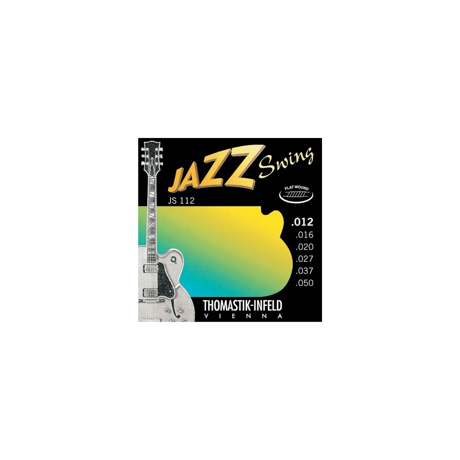 Thomastik-Infeld Jazz Swing Flatwound Electric Guitar Strings - med/lite 12-50 JS112