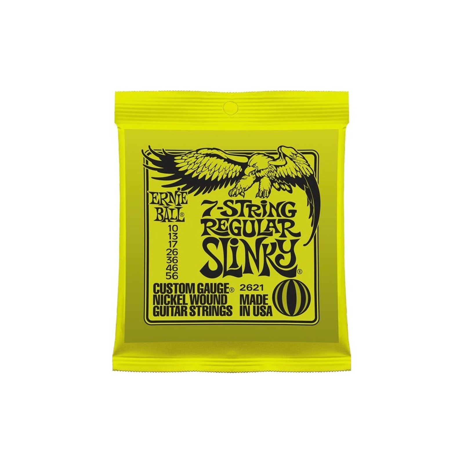 Ernie Ball 7 String Electric Guitar Strings Regular Slinky 10-56 E2621