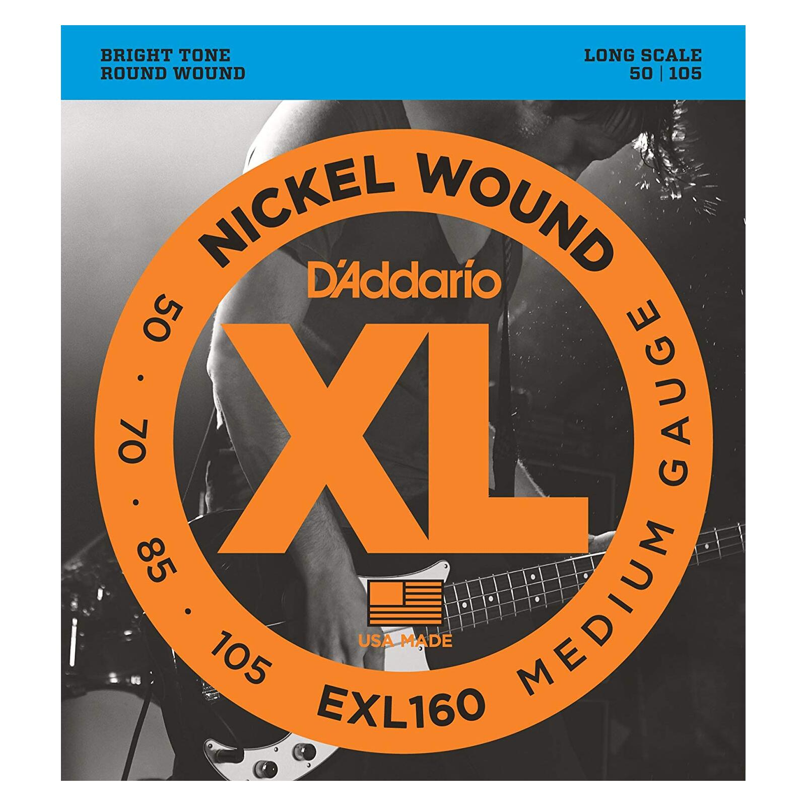 DADDARIO EXL160 50-105 BASS STRINGS
