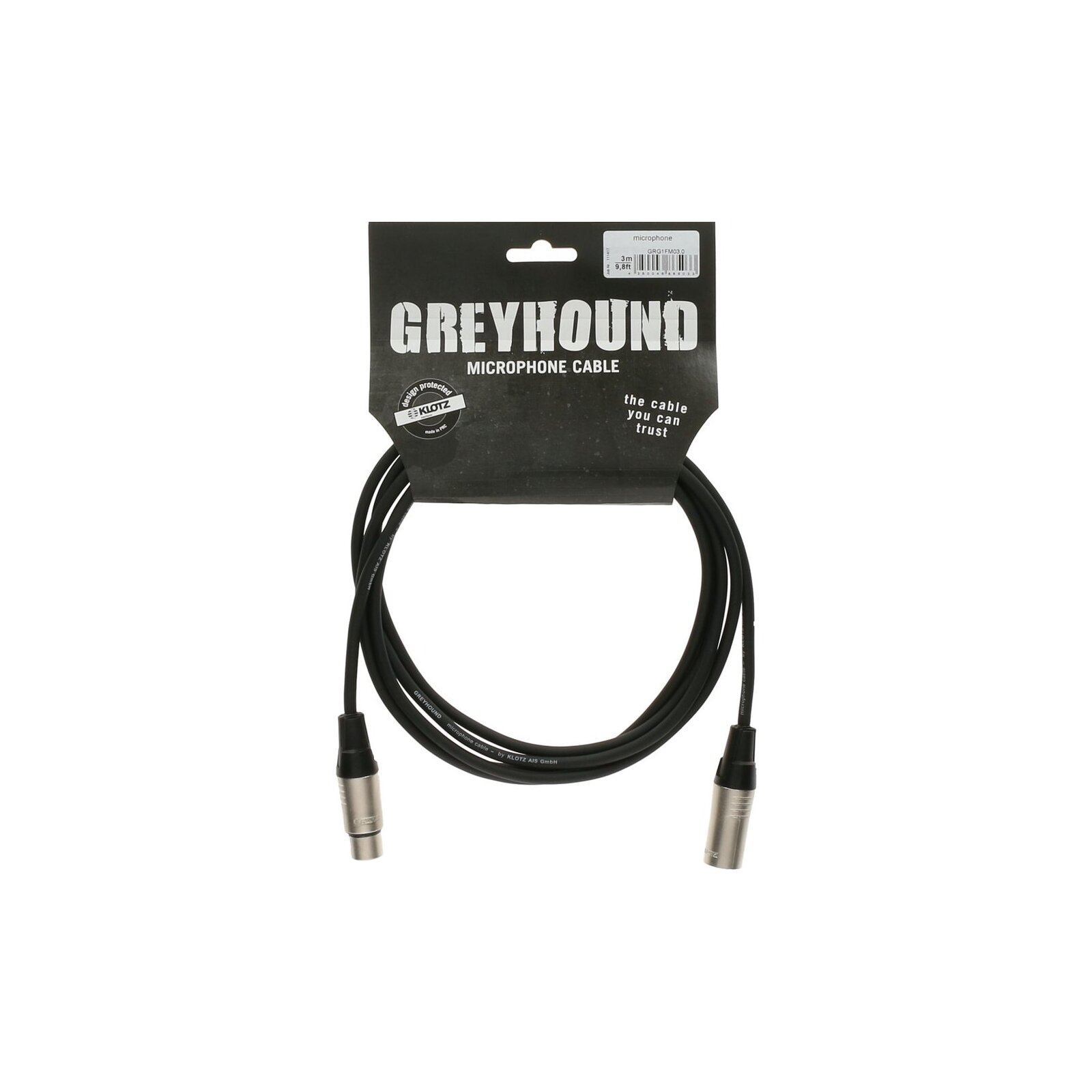 KLOTZ GREYHOUND MIC CABLE 5M F/M