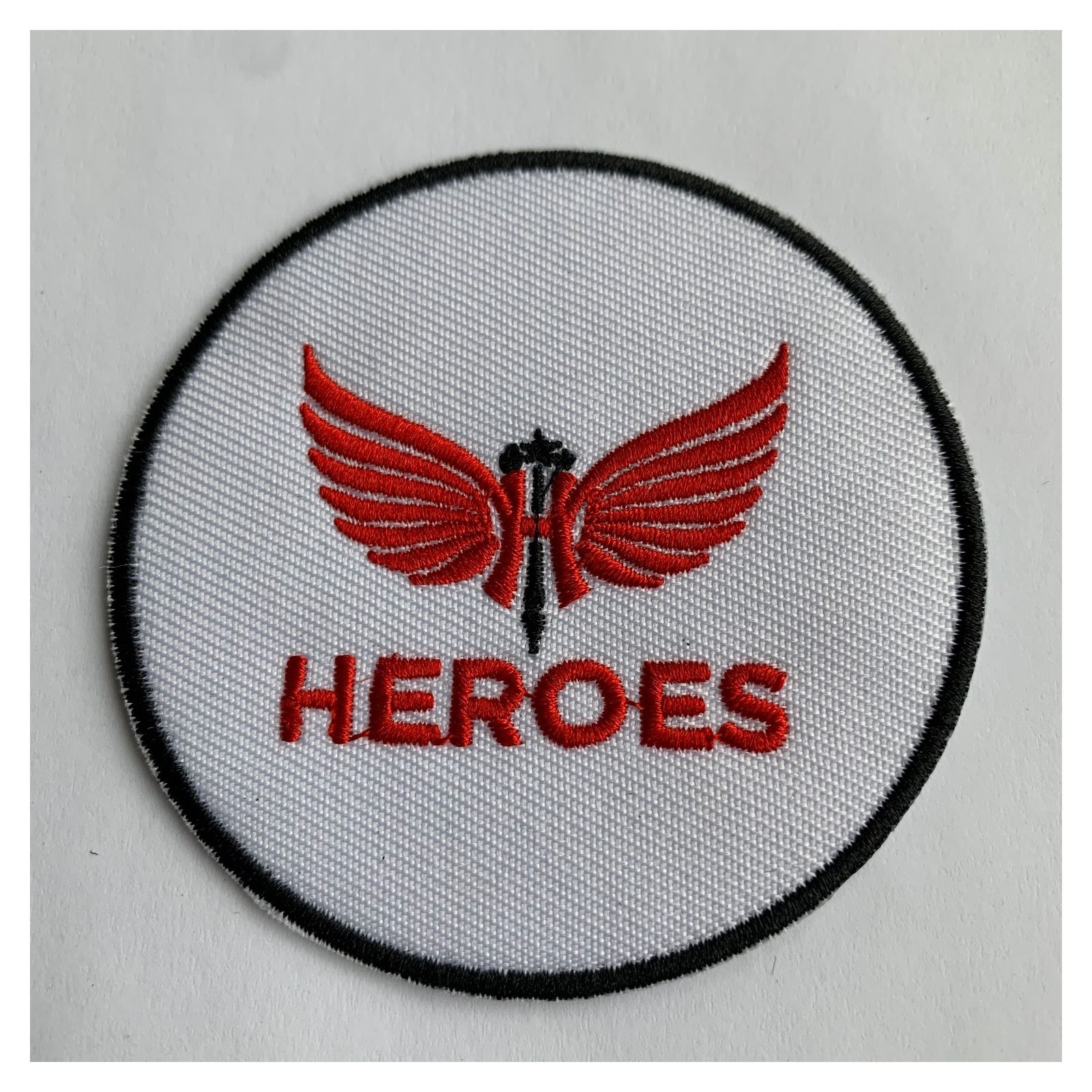HEROES IRON ON BAND PATCH