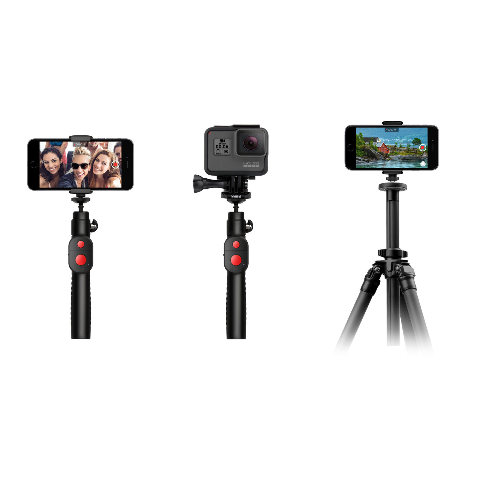 iRIG iKLIP GO MULTIFUNCTIONAL SMARTPHONESTAND AND SELFIE STICK W/ BLUETOOTH SHUTTER CONTROL