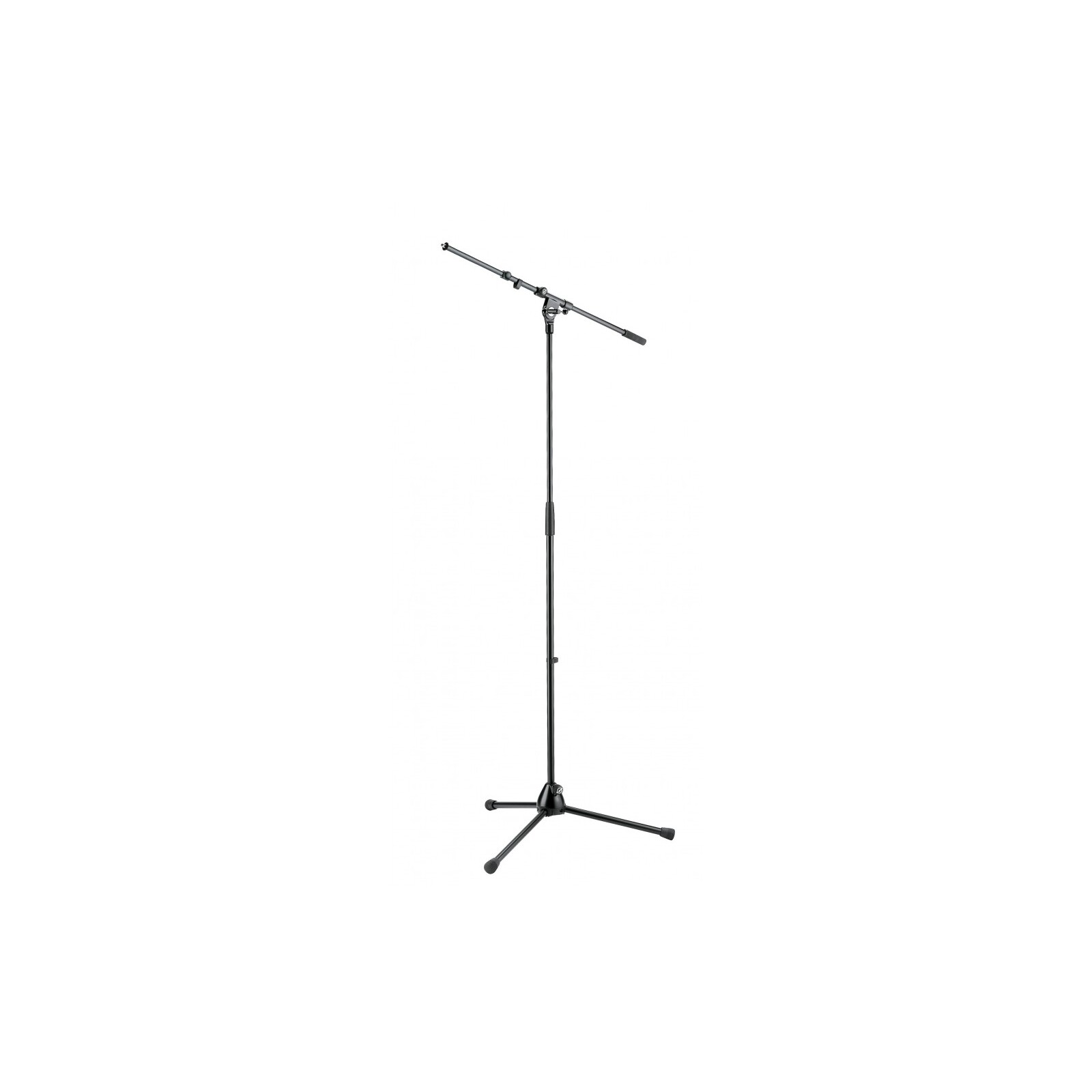 K&M 210/9B Mic Stand w/ Telescopic Boom Arm (Black)