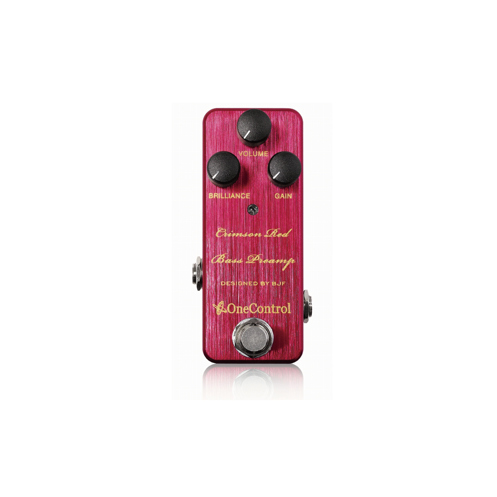 One Control Crimson Red Bass Preamp BJF Series 60s voiced Bass Preamp/Boost Pedal